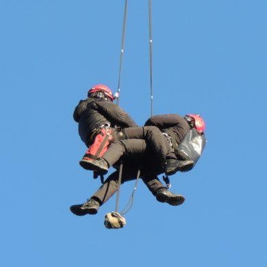Ćwiczenia śmigłowcowe ratowników JPR